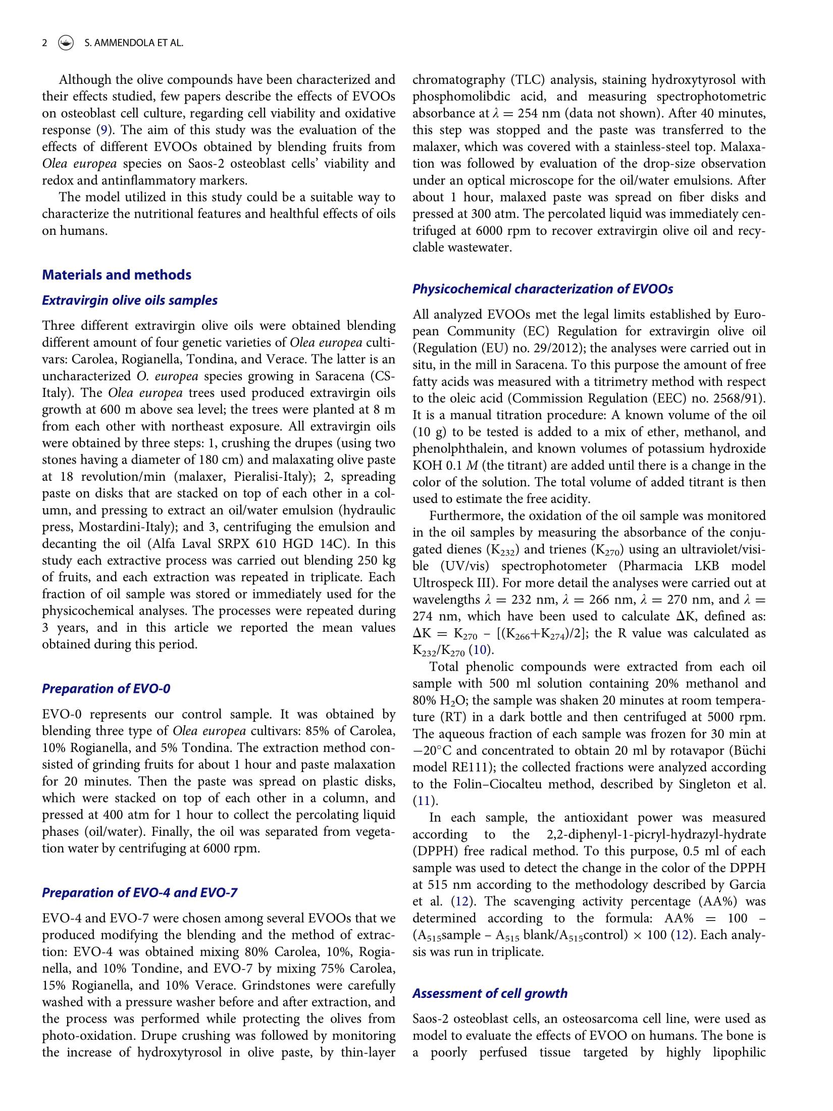 Vendita Olio Extra Vergine d'oliva Bio Vendita OnLine, Olio Lupo sul Journal of the American College of Nutrition